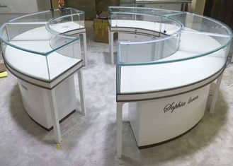 China Beautiful Round Lockable Jewelry Display Cases With 0.9 CBM / Pcs Volume factory