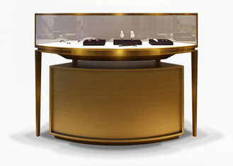 China Luxury Veneer Stainless Steel Jewellery Shop Display Counters / Jewellery Display Cases factory