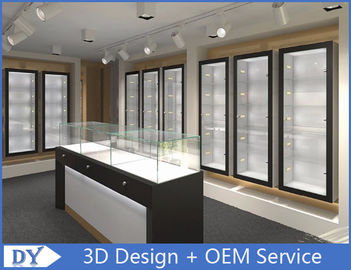 China Modern Attractitve Showroom Display Cases for Jewellery Showroom Pre - Assembly supplier