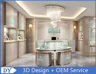 China Elegant Stainless Steel Showroom Jewellery Display Counter 1325X550X950MM supplier