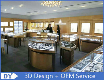 China Elegant S / S Store Jewelry Display Cases 3D Design Beige + Matte White factory