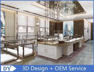 China Fashion Stainless Steel Jewellery Shop Showcase With Custom Logo factory