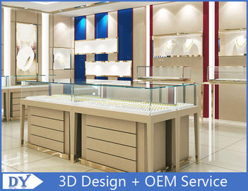 China High End Store Jewelry Display Cases , Wood Gold Shop Jewelry Showroom Furniture factory