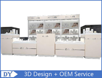 China Custom Modern Wood Glass Jewelry Store Fixtures / Jewellery Shop Decoration factory