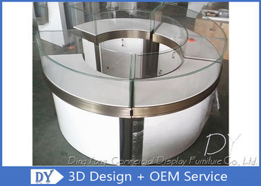 China Round Shop S / S Glass Jewelry Display Cases 1325 X 550 X 1000 MM factory