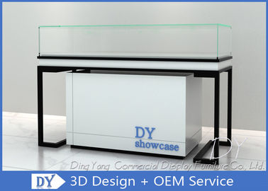 China Durable Metal Wood Jewelry Display Cases With Locks / Acrylic Logo factory