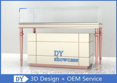 China Custom Cream - Colored Jewelry Showcase Display / Jewelry Store Fixtures supplier