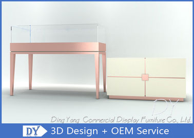 China Glass Jewellery Shop Display Counter / Jewelry Store Display Case factory