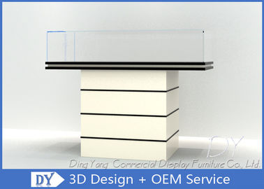 China Simple Fashion Wood Glass Jewellery Display Table / Jewelry Counter Design factory