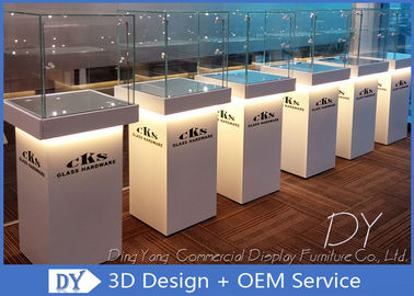 Custom Jewellery Shop Display Cabinet / Middle Standing Jewelry Display Showcase