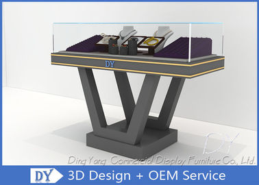 China Beautiful Firm Structure Wooden Jewelry Display Cases With Lock / Jewelry Store Counter factory