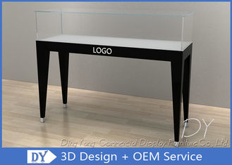 China Simple Wood Glass Jewellery Display Counter For Exhibition With Customized Logo factory