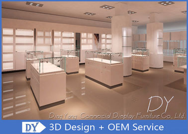 OEM Store Jewelry Display Cases For Retail Shop / Diamond Display Showcase