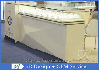 Custom Modern Matte Beige Jewelry Store Showcases Weight Capacity 30-50kg / Layer