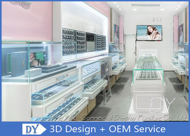 China Creative Jewelry Store Showcases With MDF + Glass + LED + Lock / Jewellery Shop Furniture factory