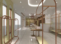 Fashion Retail Lady Apparel Store Fixtures Made With Wood Stainless Steel supplier