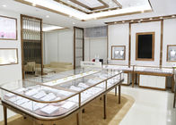 China Luxury Design Showroom Display Cases Eco - Friendly Material Covered With Glass Panels factory