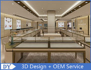 China OEM Modern Shop Showroom Jewellery Counter Display With Led factory