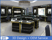 China Custom Made Mirror Black Glass Jewelry Display Cases / Retail Jewellery Display Cabinets factory
