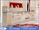 China OEM Easy Install Wood Glass Jewelry Display Cases / Jewelry Showcases For Retail Shop factory