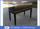 China Black Wooden Custom Glass Display Cases , Exhibition Display Counter‎ factory