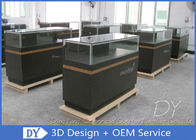 China 8MM Glass Thickness Store Jewelry Display Cases / Dark Gray Jewellery Counter Display factory