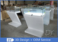 Custom Fashion Modern Retail Glass  Jewelry Display Cases With Light supplier