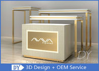 Easy Install Jewelry Showcase Display , MDF Wooden SS Jewellery Shop Display Counters supplier
