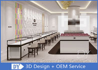 Modern White Wood Metal Display Showcase For Jewelry Store Size 1200X550X950MM supplier