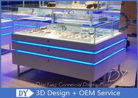 China OEM Unique Jewelry Showcase Display Spray Painting / Jewelry Store Display Cases factory