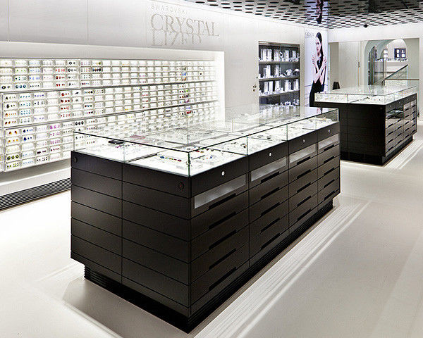 Jewelry Showcase Counter Retail Display Fixture supplier