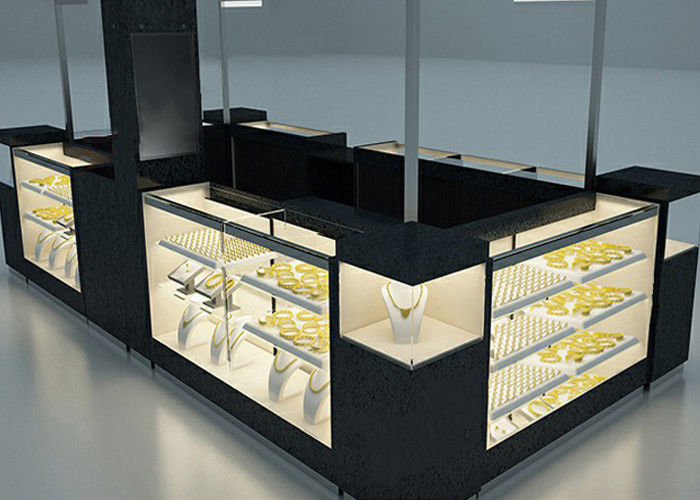 Elegant Appearance Jewelry Showcase Kiosk With Fully