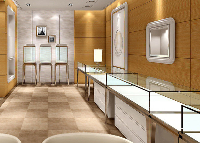 Jewellery Shop Display Cabinets / Store Display Cases Eco   Friendly  Material