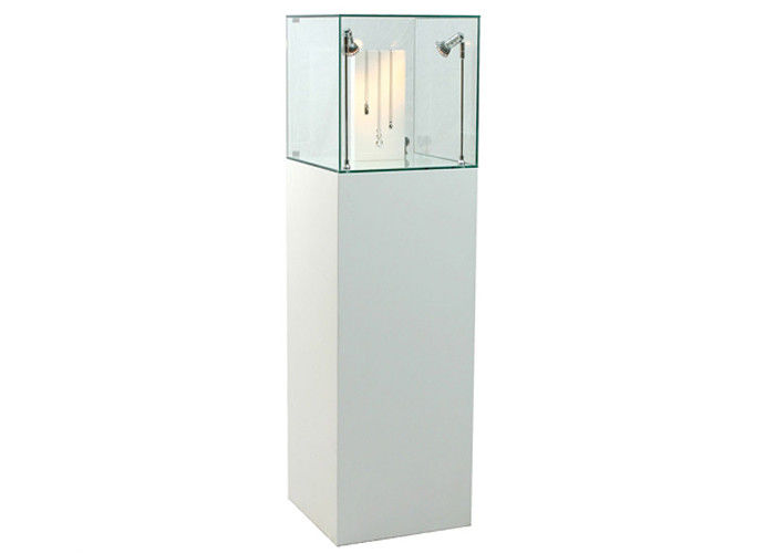 Inexpensive Custom Glass Display Cases Fully Assembled Structure With Locks supplier