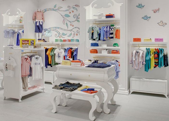 Kids Shop Display Furniture / Retail Apparel Fixtures Lovely Elegant Style supplier