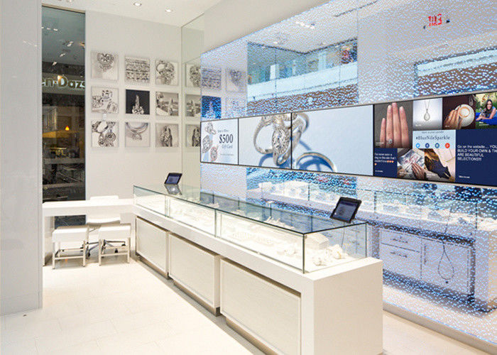 led lights decorated custom glass display cases shop display cabinets