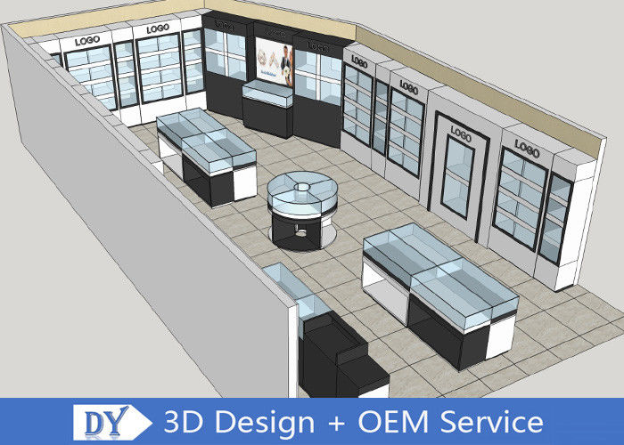 Modern MDF Jewellery Showroom / Custom Jewelry Display Cases supplier