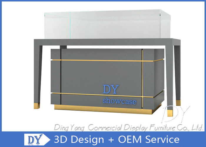 Matte Gray Jewelry Showcase Display / Sit Down Jewelry Counter supplier