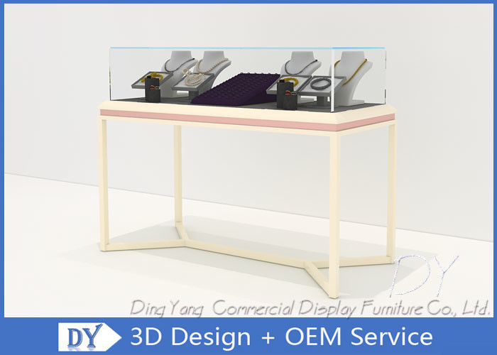 Pre Assemble Wood Glass Jewelry Store Showcases Fixtures For Exhibition supplier