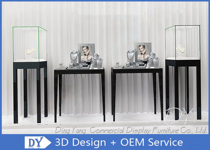 Free Standing Jewelry Display Cases / Jewellery Shop Display Cabinets supplier