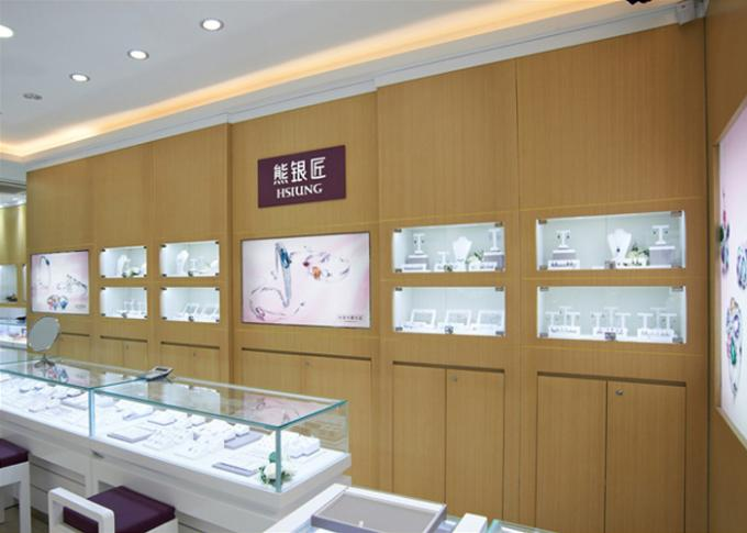 Retail Shop Lighted Commercial Jewelry Wall Display Case