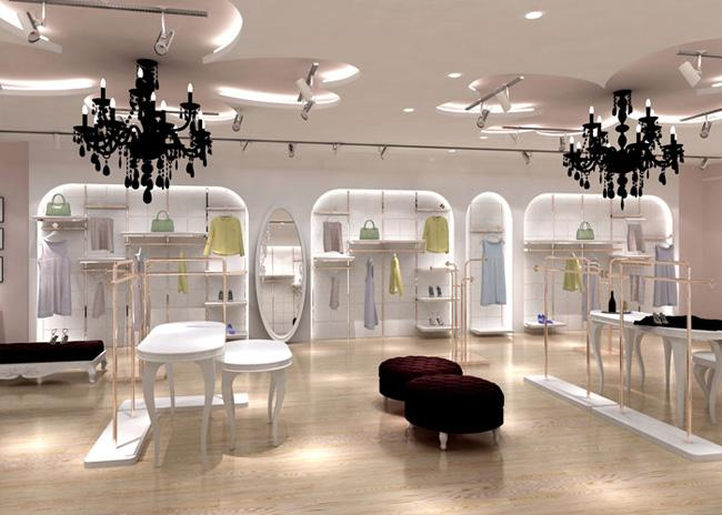 Exquisite Workmanship Wall Clothing Store Fixtures For Retail Shop Display