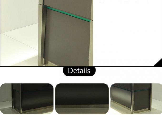 Brush Stainless Steel Retail Glass Display Cabinets