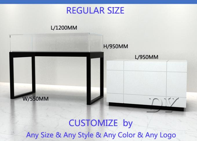 Modern Functional Glass Jewellery Counters / Jewellery Showcases