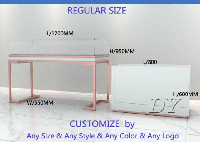 Nice Glass Wooden Jewellery Display Counter / Jewellery Counters