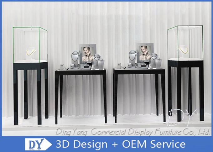 Free Standing Jewelry Display Cases / Jewellery Shop Display Cabinets